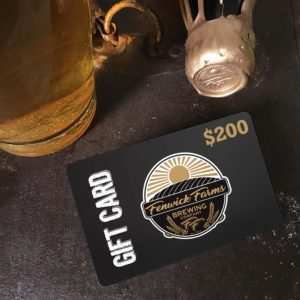 Craft Brewery Gift Cards 200 dollars